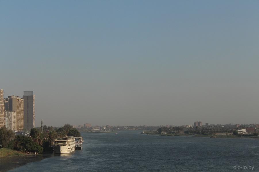 Река Нил, вид с моста 2