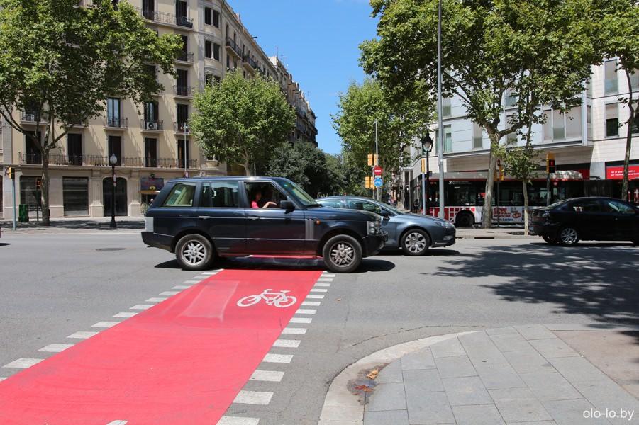 велодорога в Барселоне