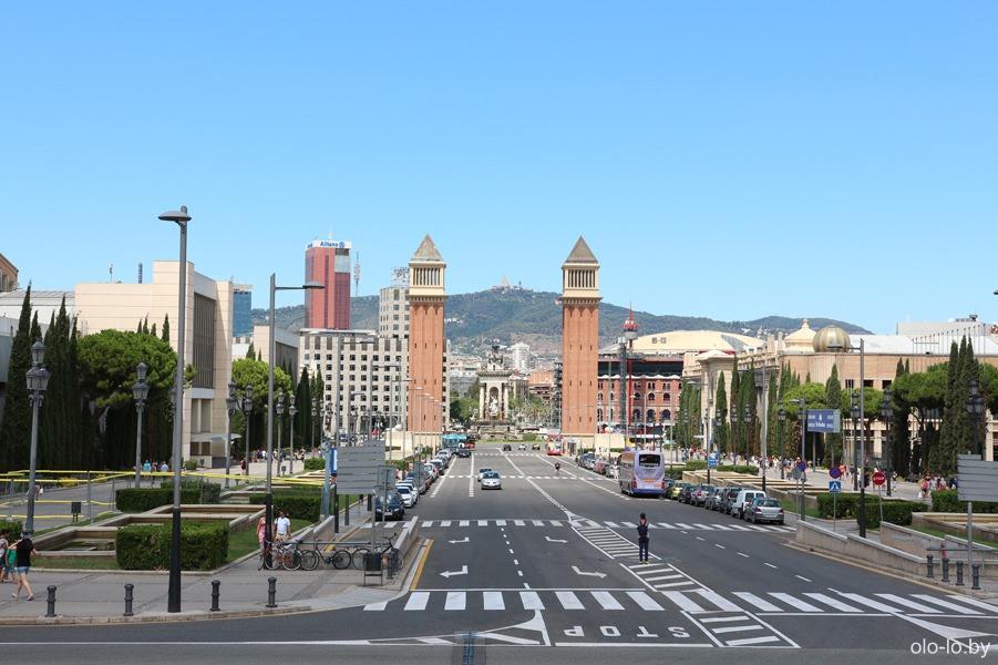 площадь Испании, вид с Монджуика