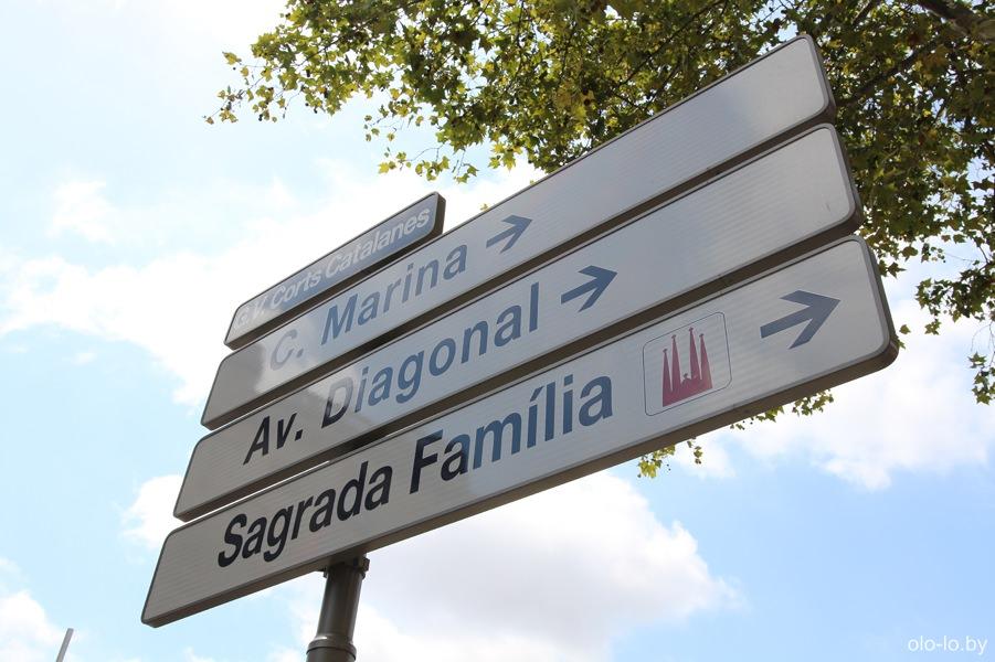 указатель в Барселоне