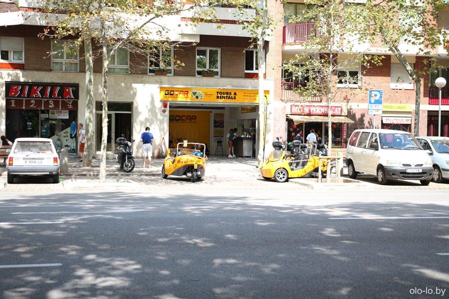 мини-автомобили в Барселоне