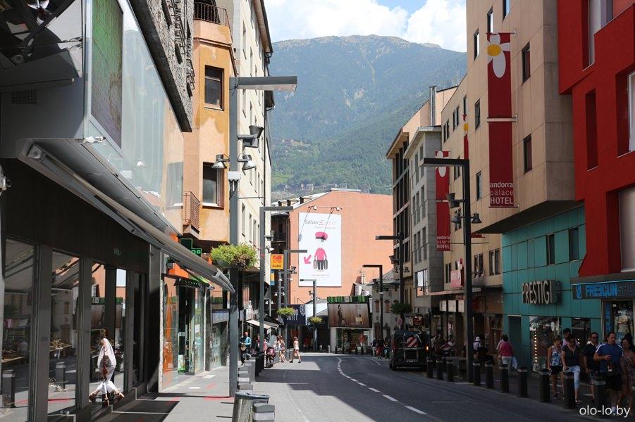 улицы города Андорра-Ла-Велья