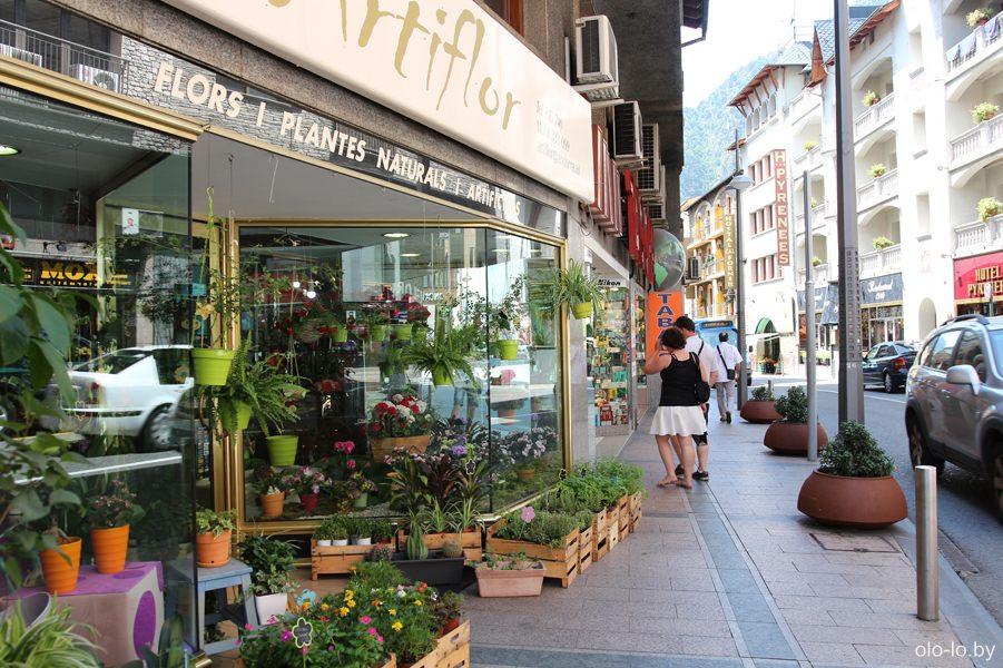 цветочный магазин в столице Андорры