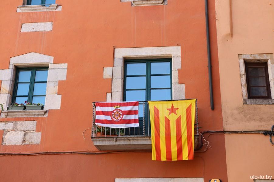 каталонский и жиронский флаги