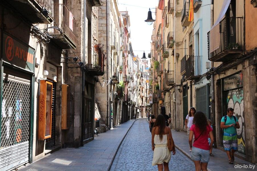 улицы в еврейском квартале в Жироне