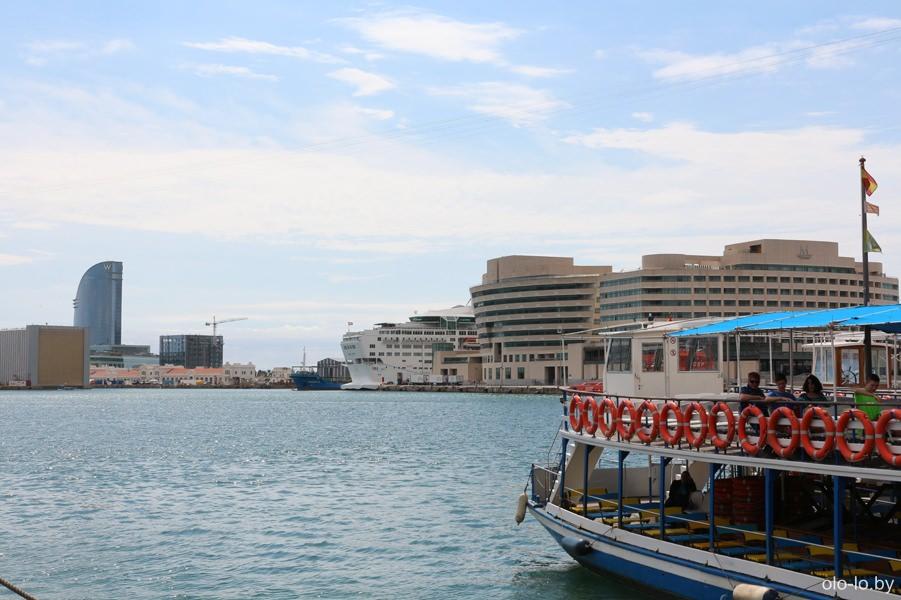 портовая гавань в Барселоне