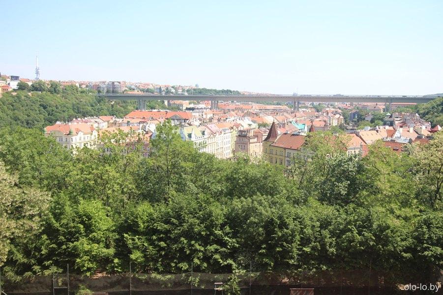 Панорама Праги, вид из Вышеграда