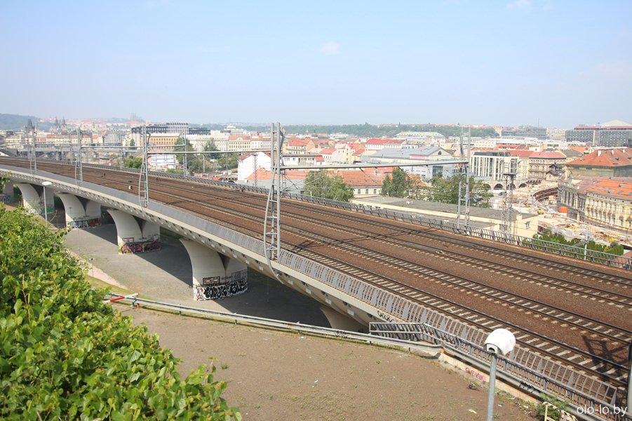 Железнодорожные пути в Праге