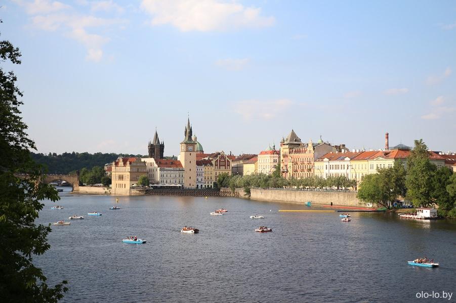 Вид на Влтаву с моста Легии