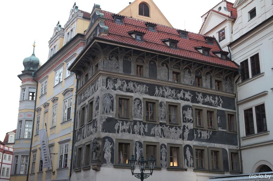 Дом у минуты, Прага