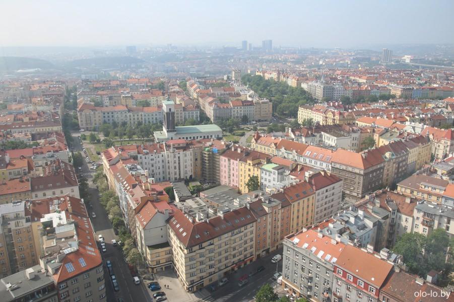 Панорама Праги, вид с телебашни