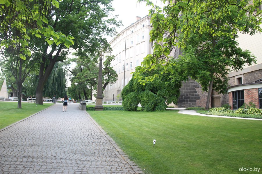 Сады на Валах, Пражский град