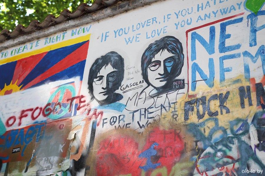 Стена Джона Леннона, Прага