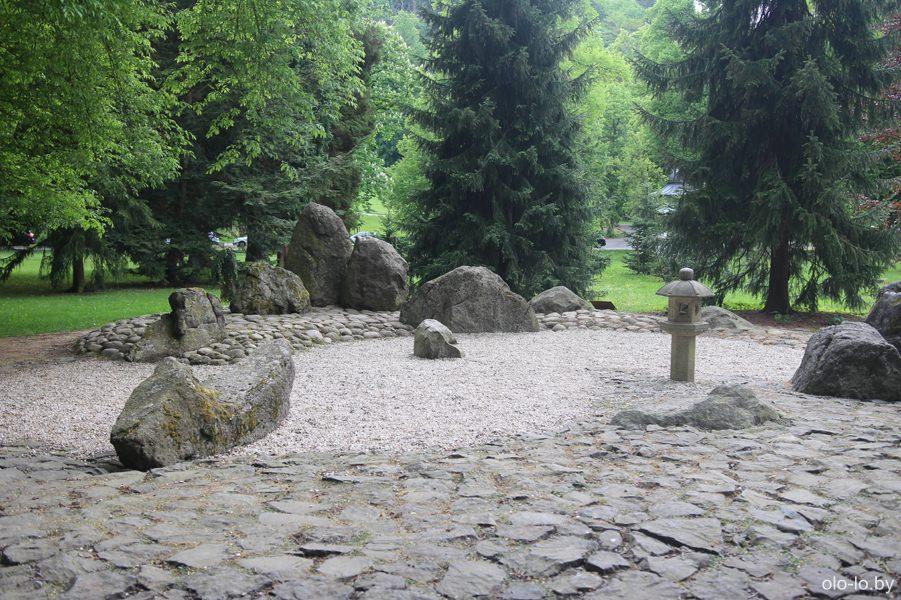 Японский сад камней, Карловы Вары
