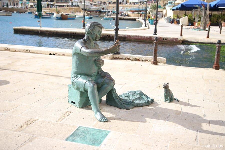 памятник рыбаку, Сент-Джулианс