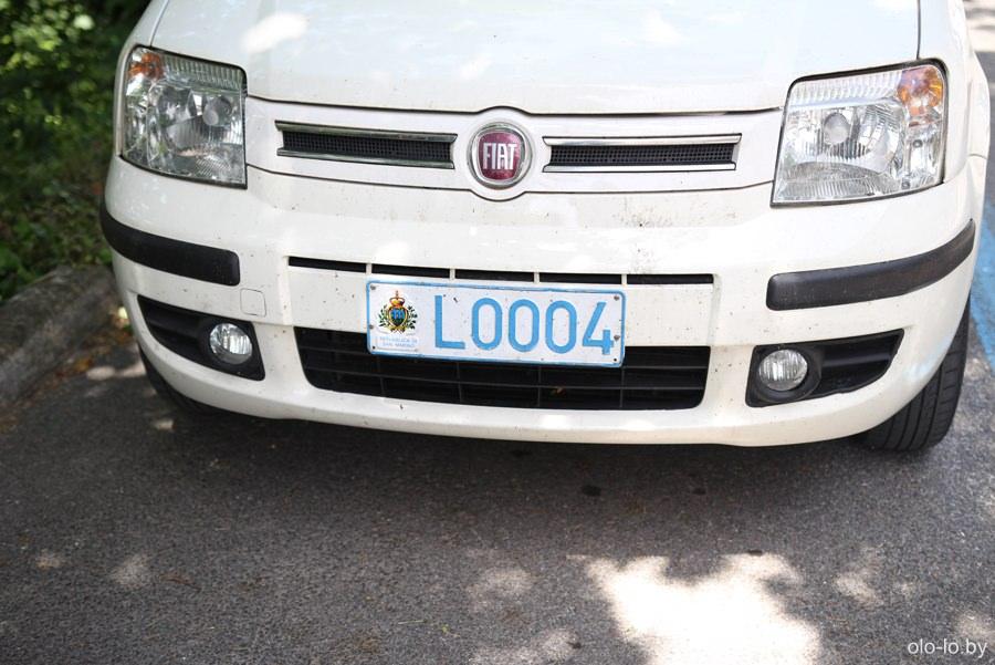 автомобильный номер, Сан Марино