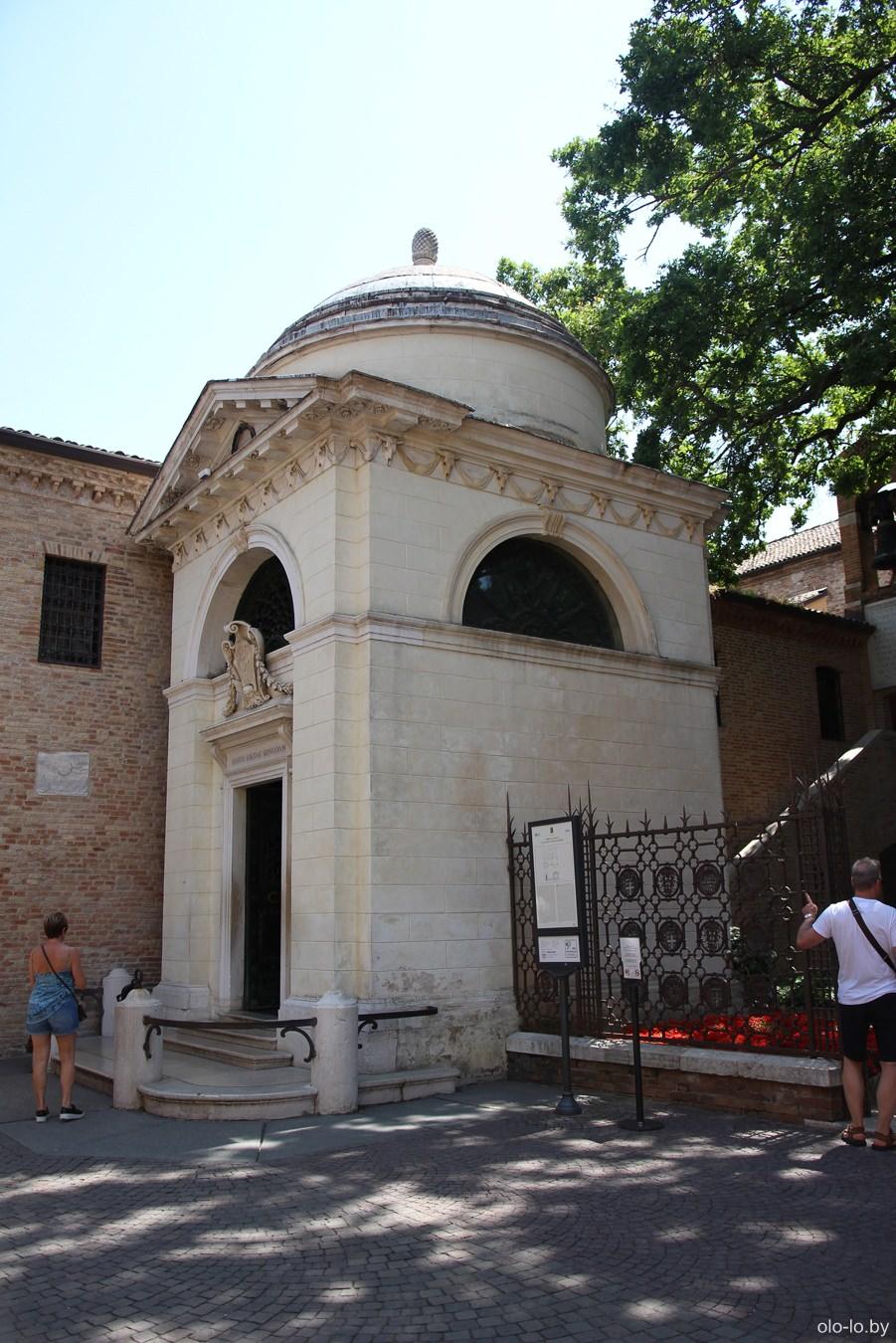 могила Алигьери, Равенна