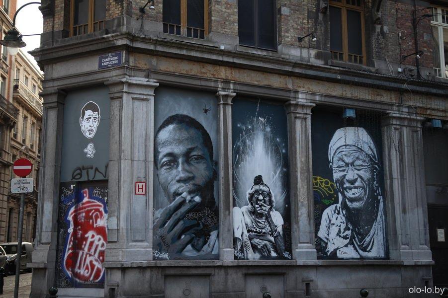 граффити в Брюсселе